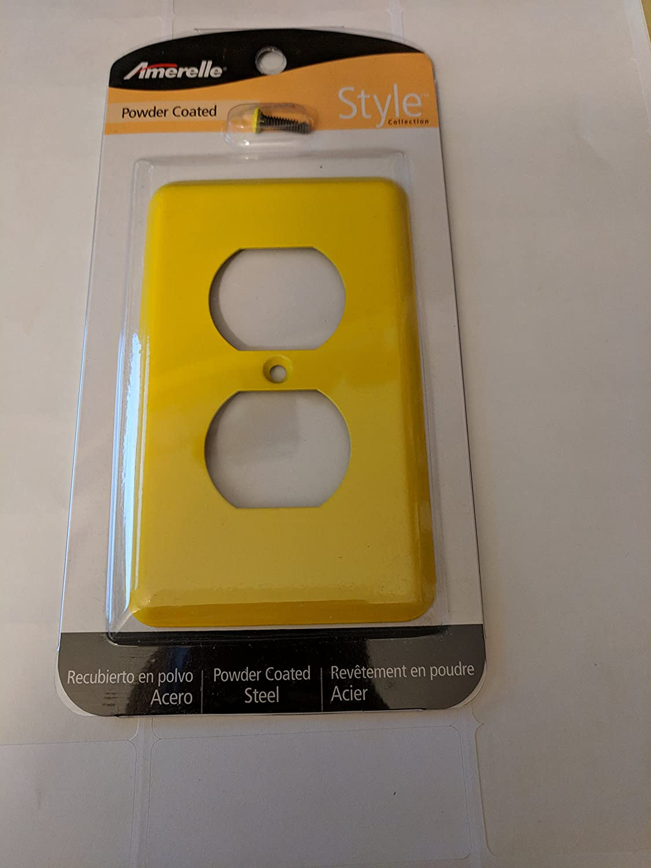 Steel 1-Gang Yellow Duplex Wall Plate - - Amazon.com