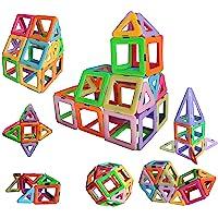 dreambuilderToy Magnetic Tiles Building Blocks Game Set Toys (40 PC Set) (Pastel Color)
