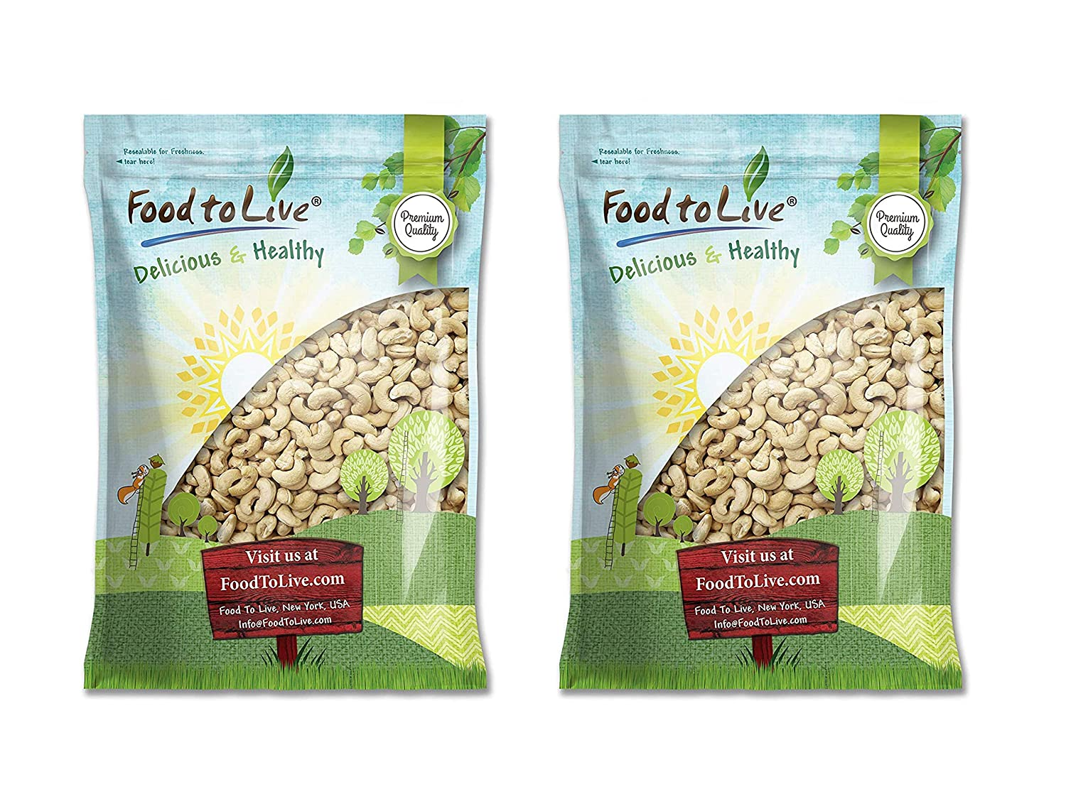 Raw Cashews, 18 Pounds – Non-GMO Verified, Deluxe Whole Nuts, Unsalted, Unroasted Fancy Snack, Size W-320, Kosher, Vegan, Bulk, A good source of Magnesium, Phosphorus, Copper & Manganese