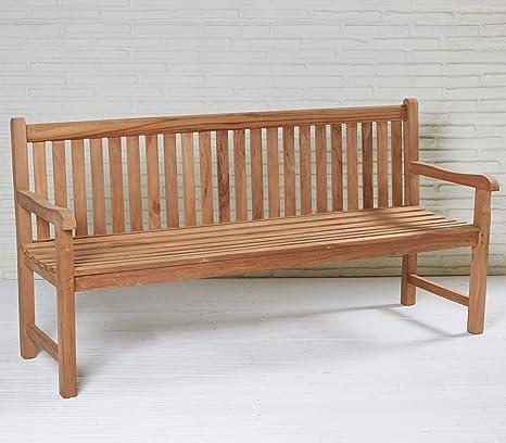 Wholesaler GmbH Gartenbank Kampen 180 cm Teak Naturholz ...