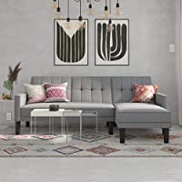 Deals on DHP Haven Small Space Sectional Futon Sofa