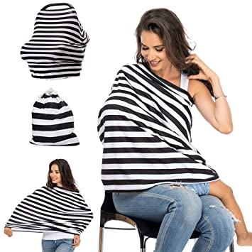 028b469d357c2 Amazon.com: Nursing Cover for Breastfeeding, Car Seat Canopy, Breast  Feeding Cover Ups, Carseat Canopy Covers for Boys and Girls, Shopping Cart  Cover, ...