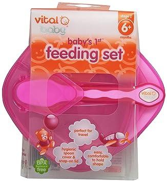Pink Vital Baby Babys 1st Feeding Set