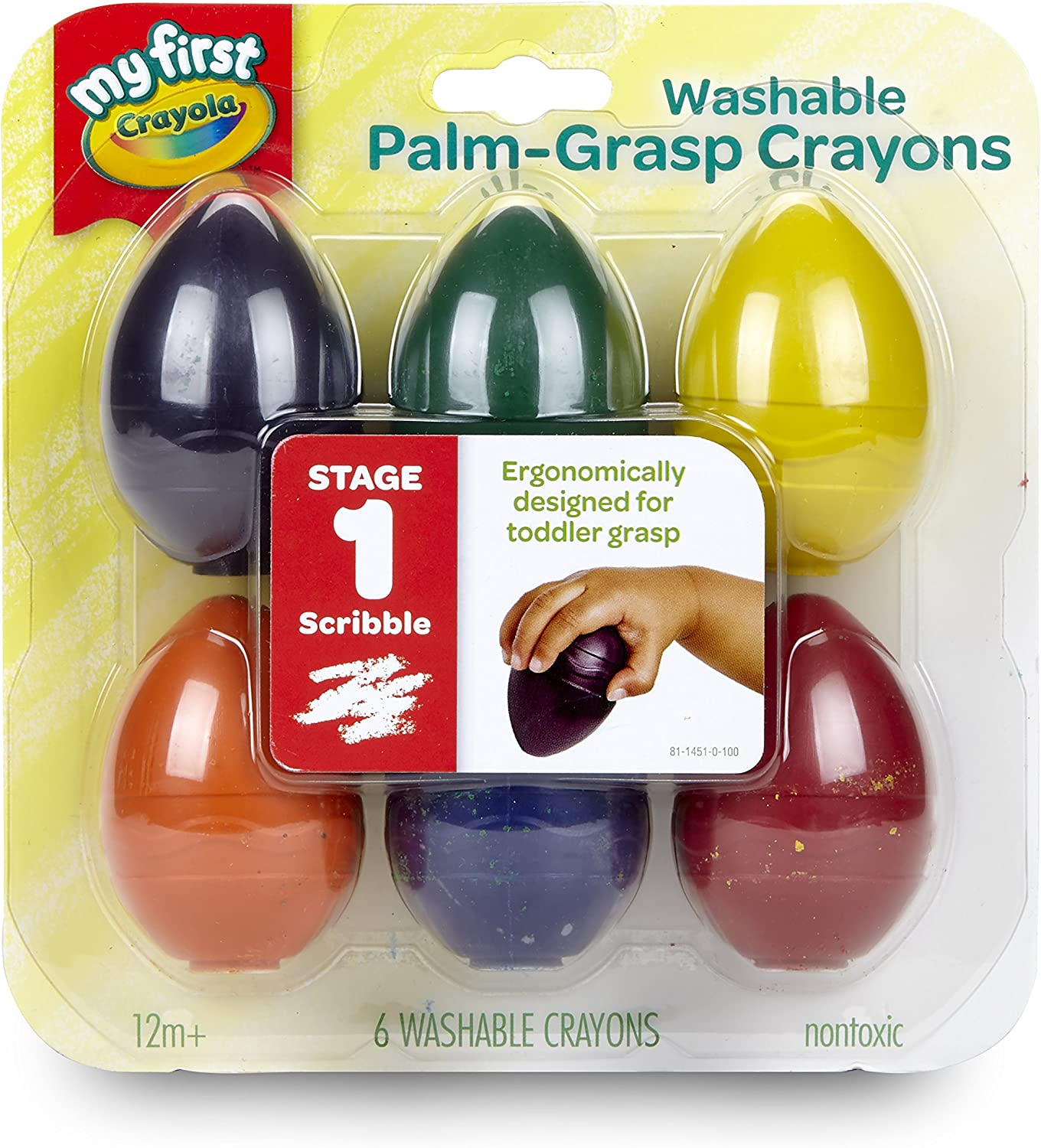 3 Count Crayola My First Palm Grip Crayons for Toddlers FAST /& FREE SHIPPING