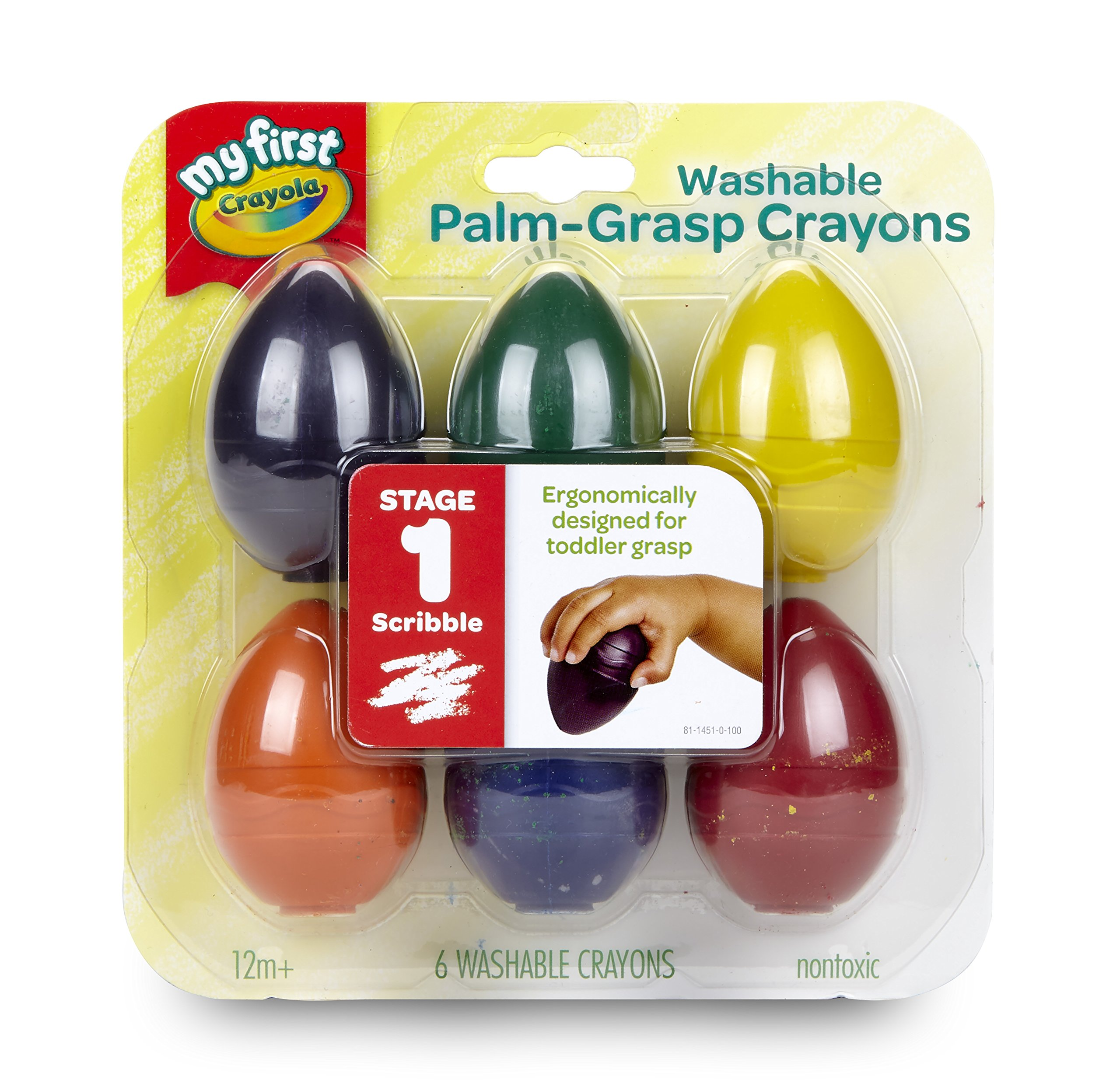 Crayola My First Palm Grip Crayons, Coloring for Toddlers, 6ct by Crayola (Image #2)
