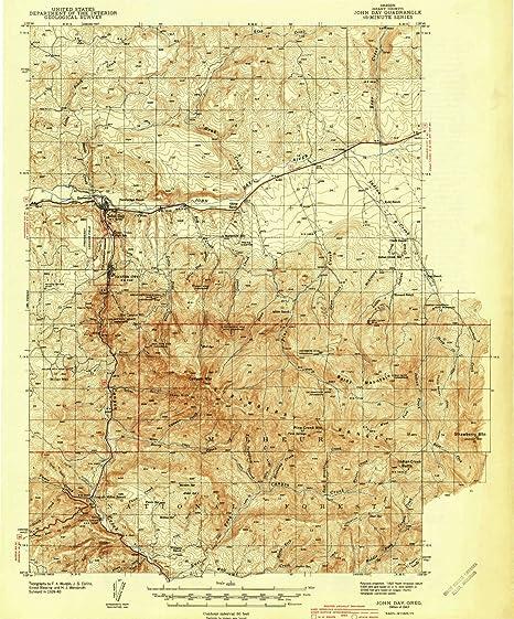 Amazoncom Yellowmaps John Day Or Topo Map 162500 Scale 15 X 15