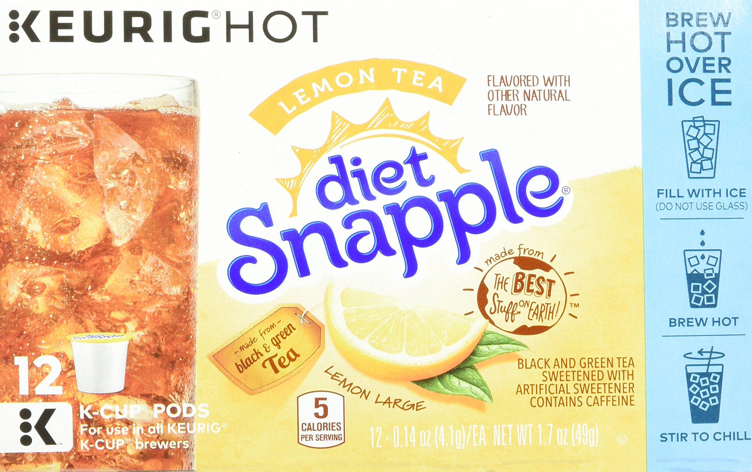 Keurig K Cups Snapple, Diet Lemon Iced Tea , 72 Count by Snapple (Image #6)