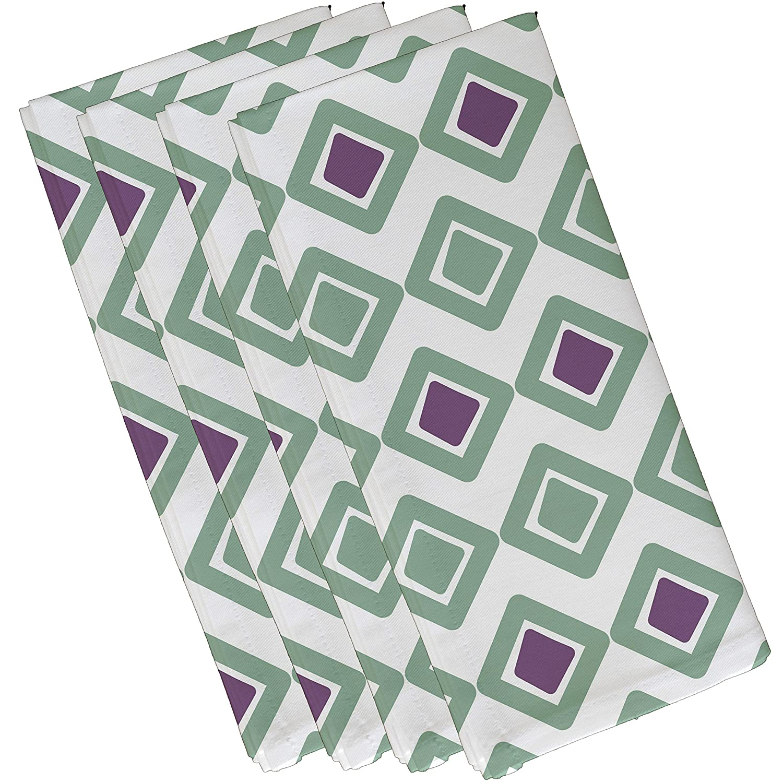 Ebydesign Diamond Jive 2 Geometric Print Napkin 19 x 19 Navy Blue
