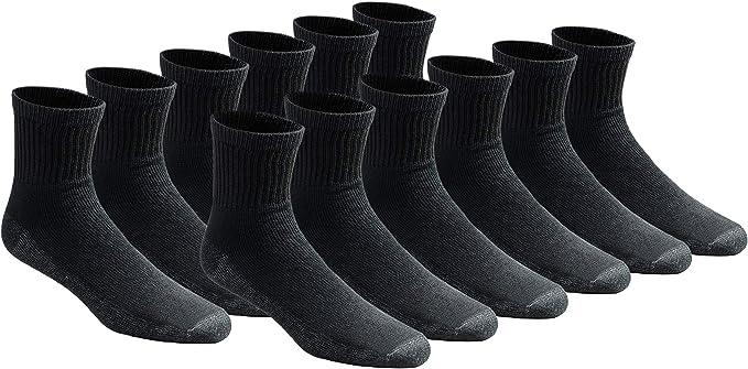 NEW 6 Pairs Kids Black Tuff Stuff Cotton Casual Dress Crew Socks