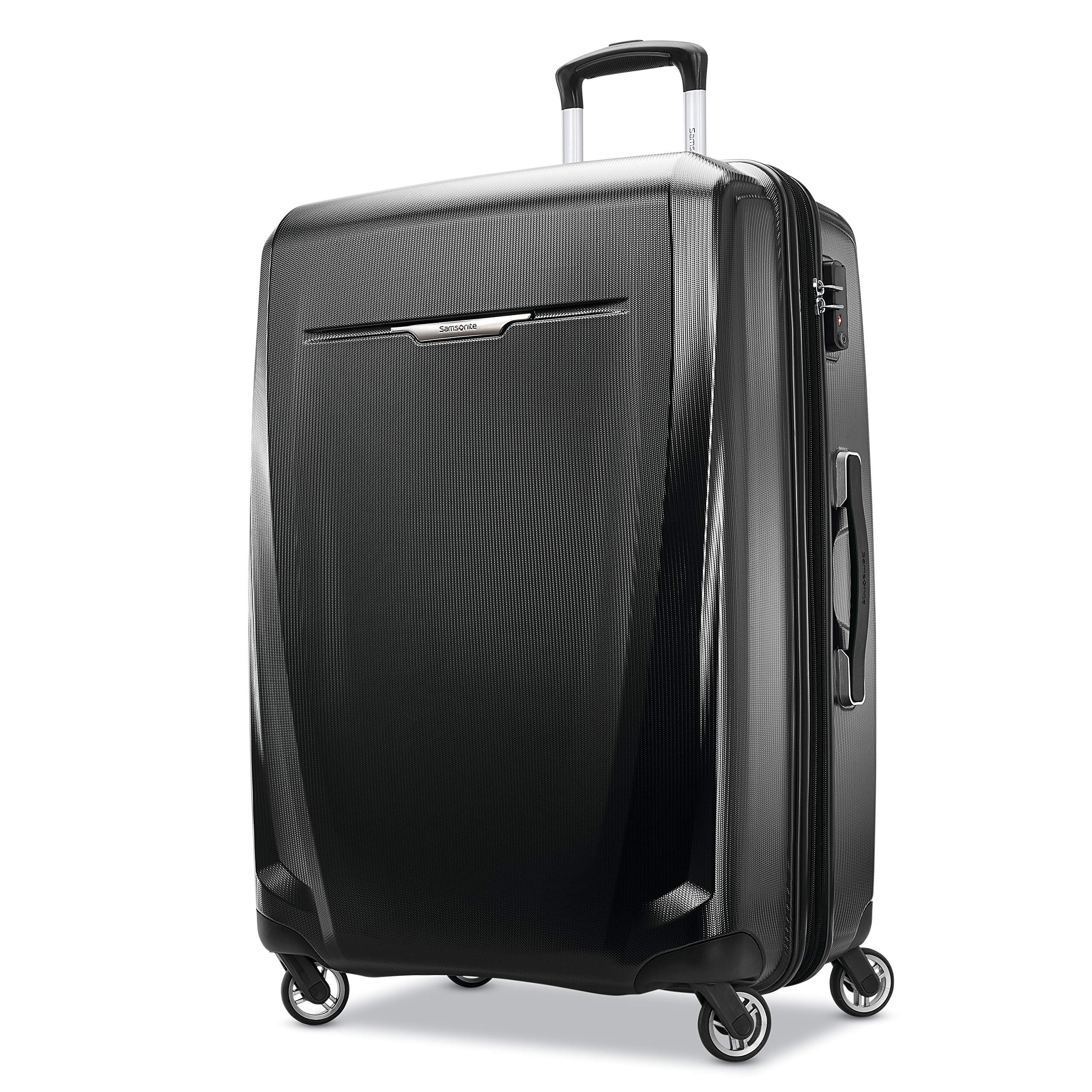 Samsonite Winfield 3 DLX Hardside Checked Luggage with Spinner Wheels, 28-Inch, Black