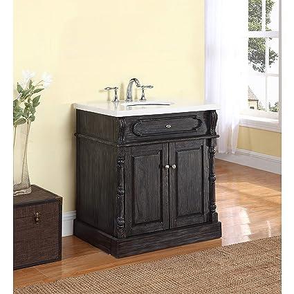Amazon Com Crawford And Burke Baymore Bathroom Vanity In Gray