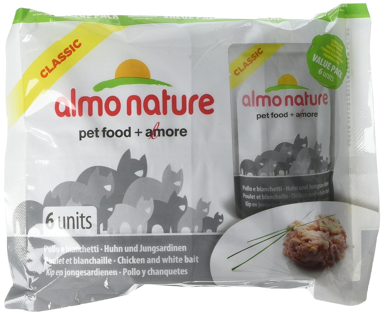 Almo nature - Bolsa de comida para gatos (8 x 6 x 55 g): Amazon.es: Productos para mascotas