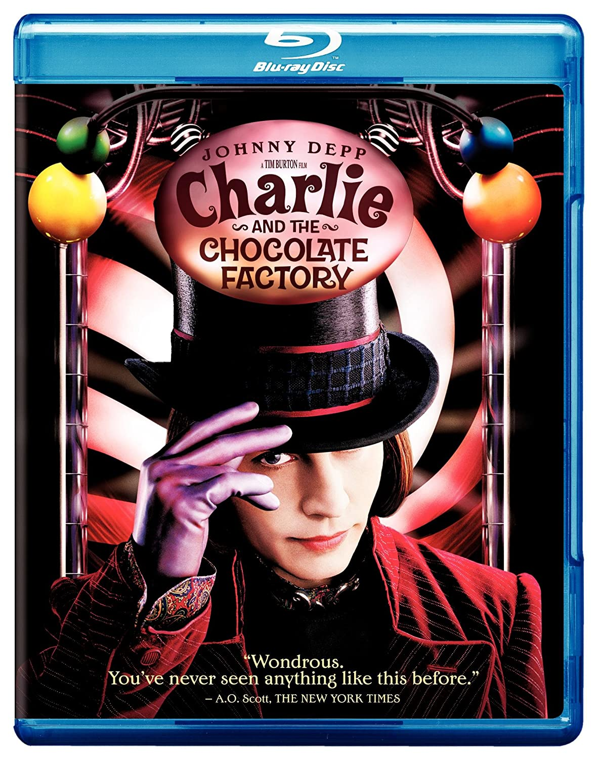 Amazon.com: Charlie and the Chocolate Factory [Blu-ray]: Johnny ...
