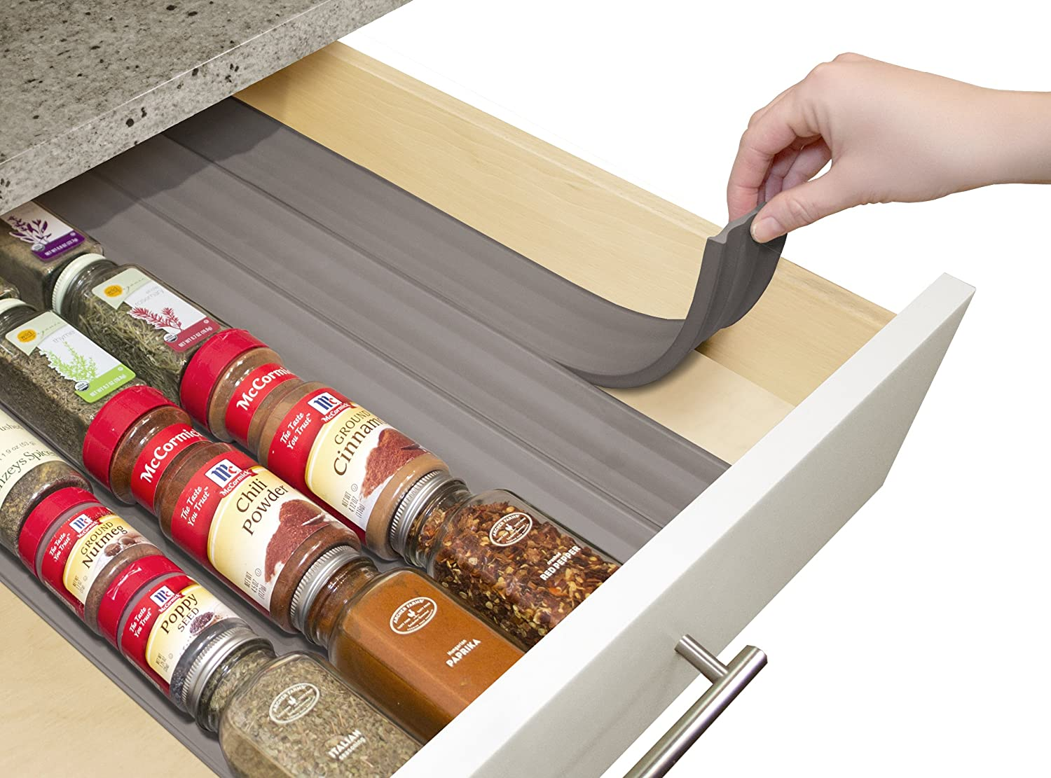 Kitchen Spice Storage Amazoncom Youcopia Spiceliner In Drawer Spice Organizer 6 Pack