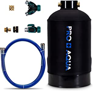 "Portable RV Water Softener 16,000 Grain PRO Premium Grade, Trailers, Boats, Mobile Car Washing, High Flow 3/4"" GH Ports"
