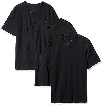 Hugo Boss Boss Men's Cotton 3 Pack V-Neck T-Shirt, New Black
