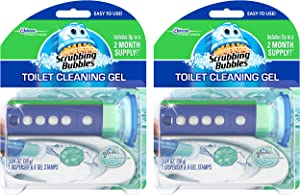 Scrubbing Bubbles Toilet Cleaning Gel Starter Kit, Glade Rainshower, 2 Pack, 6 Count, 1.34 Ounce