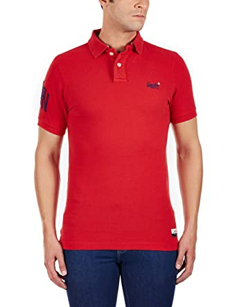 Polo Superdry Cut Collar Rojo XL Rojo: Amazon.es: Ropa y accesorios