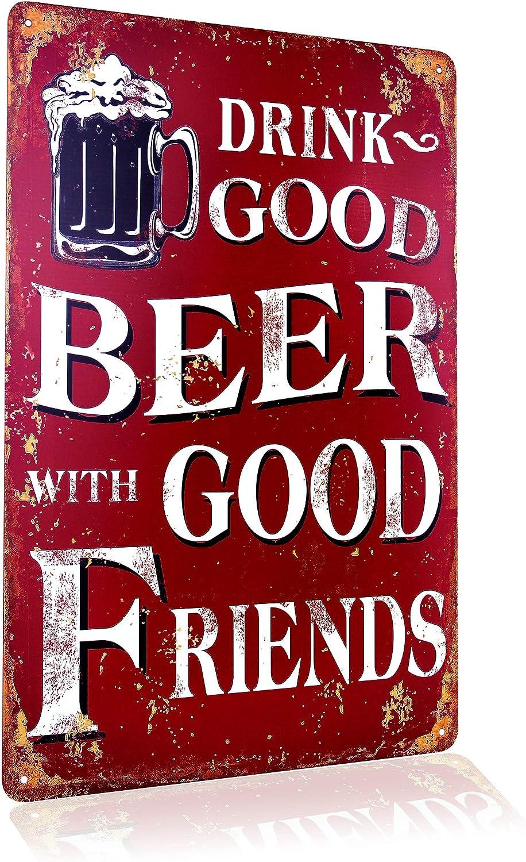 Blechschild Retro Bier Geschenk Magnet Metall Schild Mit Sprüchen Vintage Lustige Amazon De