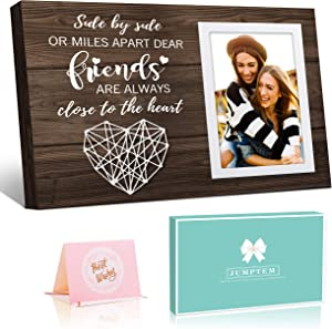 Friend Picture Frame Gifts for Friend, Long Distance Friendship Gifts for Him Her for Friendship - Birthday Gifts for Women Wall Decor - 4x6 Inches Photos