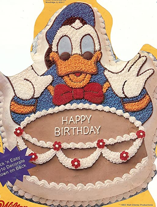 Stupendous Amazon Com Wilton Disney Donald Duck With Birthday Cake Pan 502 Funny Birthday Cards Online Alyptdamsfinfo