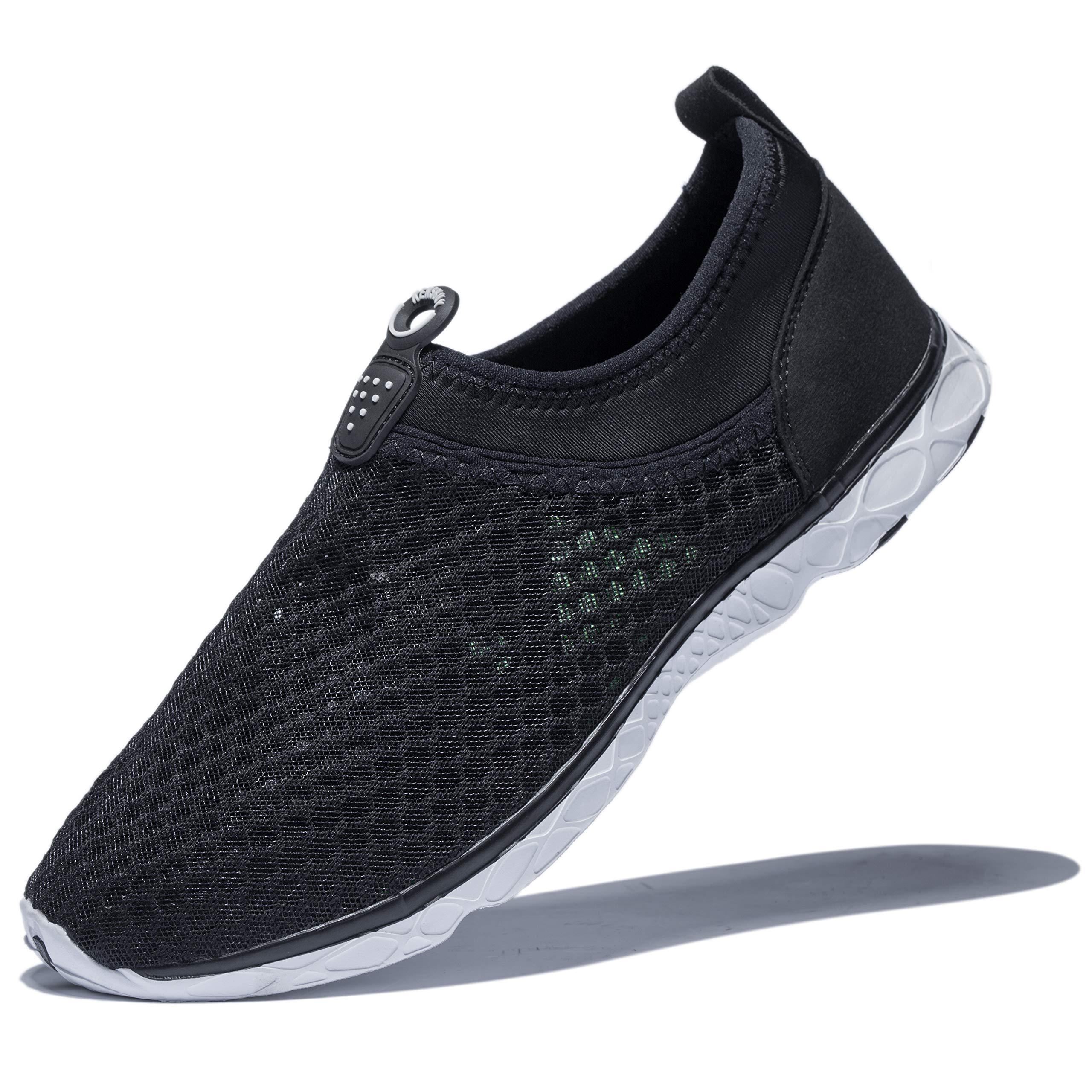 KENSBUY Men's Summer Mesh Shoes,Outdoor Beach Aqua Shoes,Running,Walking EU41 Black by KENSBUY (Image #1)