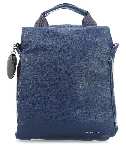 Damen Mellow Leather Tracolla Schultertasche, Blau (Eclipse), 5.5x25x34.5 cm Mandarina Duck