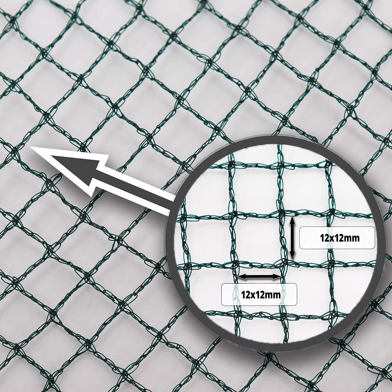 Aquagart/® Teichnetz Teichabdecknetz besonders engmaschig: Maschenweite 12mm x 12mm dunkelgr/ün 4m, 10m breit gr/ün Laubnetz Reihernetz robust verschiedene Gr/ö/ßen Vogelabwehrnetz