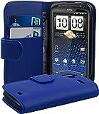 HTC SENSATION XE Hülle in BLAU von Cadorabo - Handyhülle mit Kartenfach für HTC SENSATION XE Case Cover Schutzhülle Etui Tasche Book Klapp Style in KÖNIGS BLAU