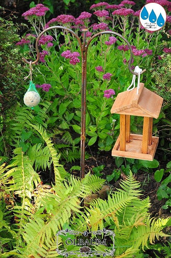 Casa de pájaros, casitas para pájaros, madera natural, de superficie de nuevo Forro, /madera hogar Natural Natural Maciza + Winterfest, madera para pájaros, con forro de pájaro Silo grande, 1 L, con