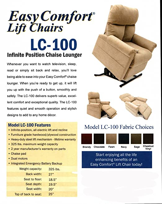 Amazon.com  Mega Motion Infinite Position Power Lift Chair and Recliner 4725fea8f