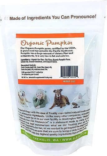 4Legz Organic All Natural Crunchy Non-GMO Dog Treats