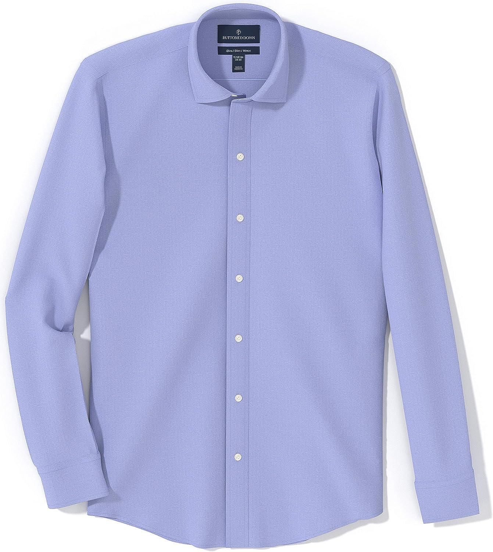 colletto con bottoni classica slim fit camicia elegante da uomo BUTTONED DOWN in cotone Supima Marchio tinta unita non necessita di stiratura