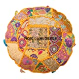Indian Ottoman Pouf Cover Decorative Living Room