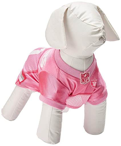 fc5e6d9ea Amazon.com : Pets First NFL Oakland Raiders Pet Jersey, Small, pink ...