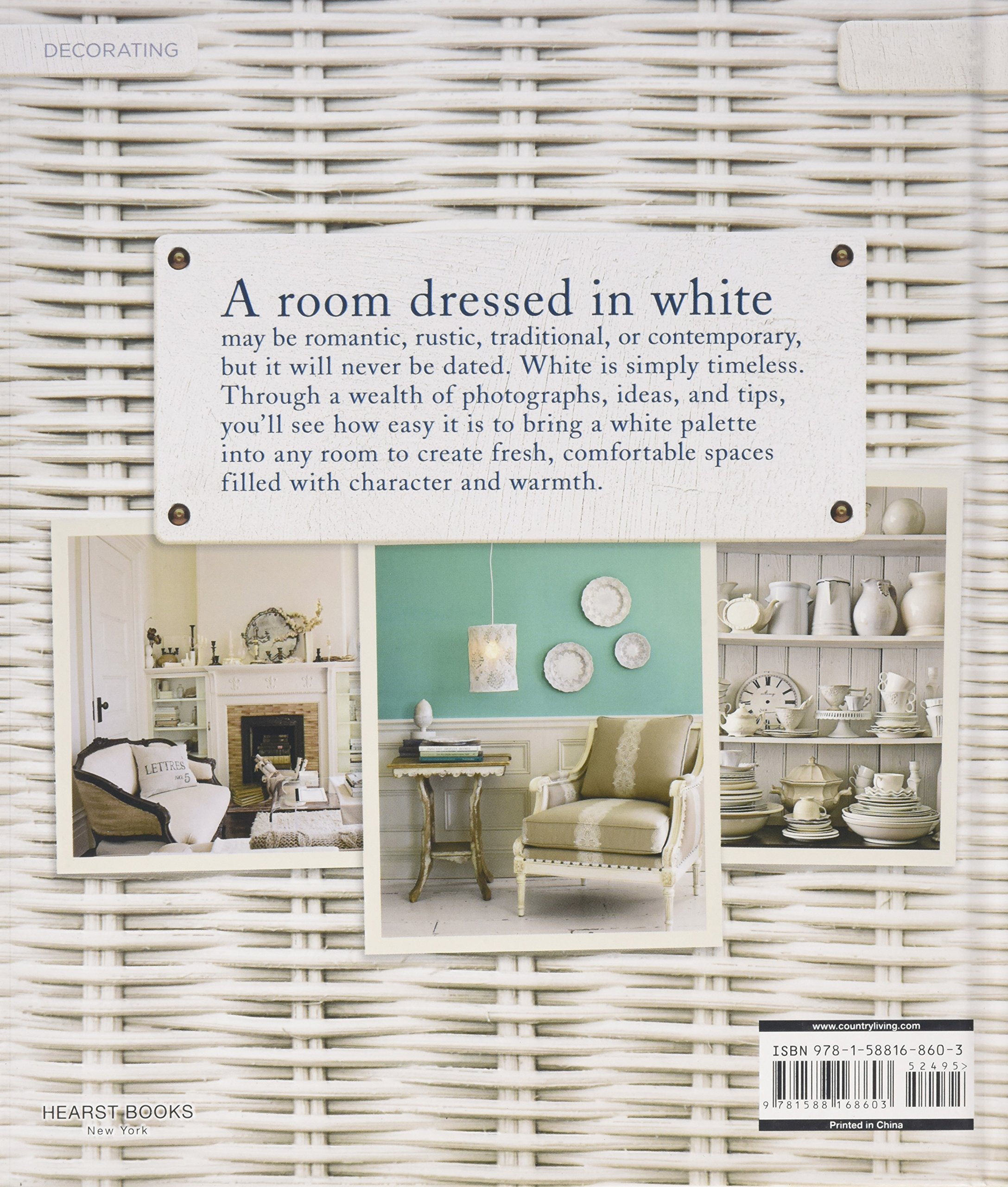 Country Living Decorating With White: Country Living, Gina Hyams:  9781588168603: Amazon.com: Books