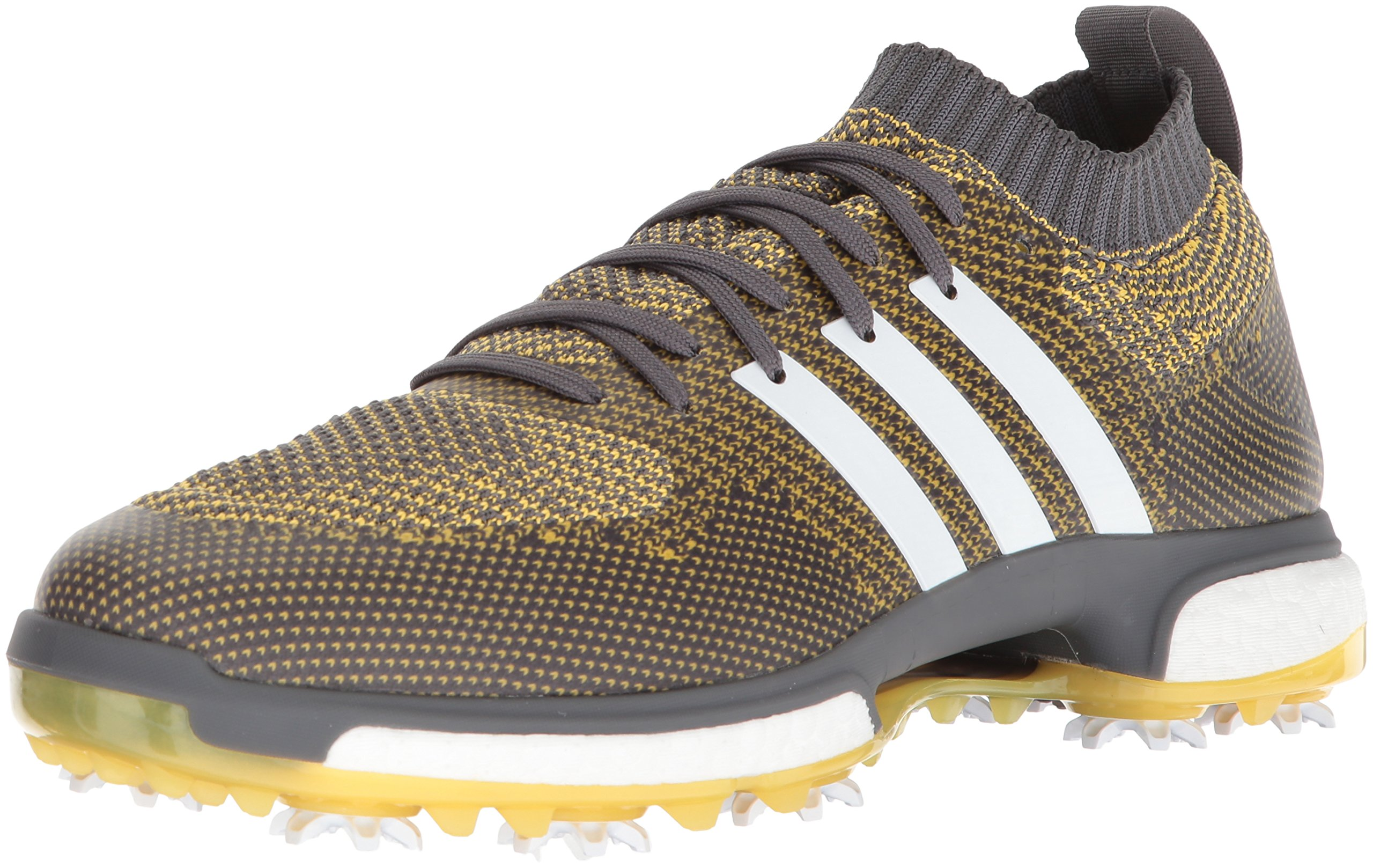 adidas Men's TOUR360 Knit Golf Shoe, Grey Five FTWR White/EQT Yellow, 15 Medium US by adidas