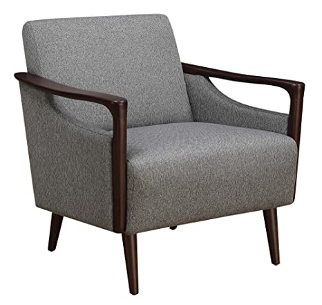 Miraculous Scott Living Upholstered Accent Chair Grey And Brown Andrewgaddart Wooden Chair Designs For Living Room Andrewgaddartcom