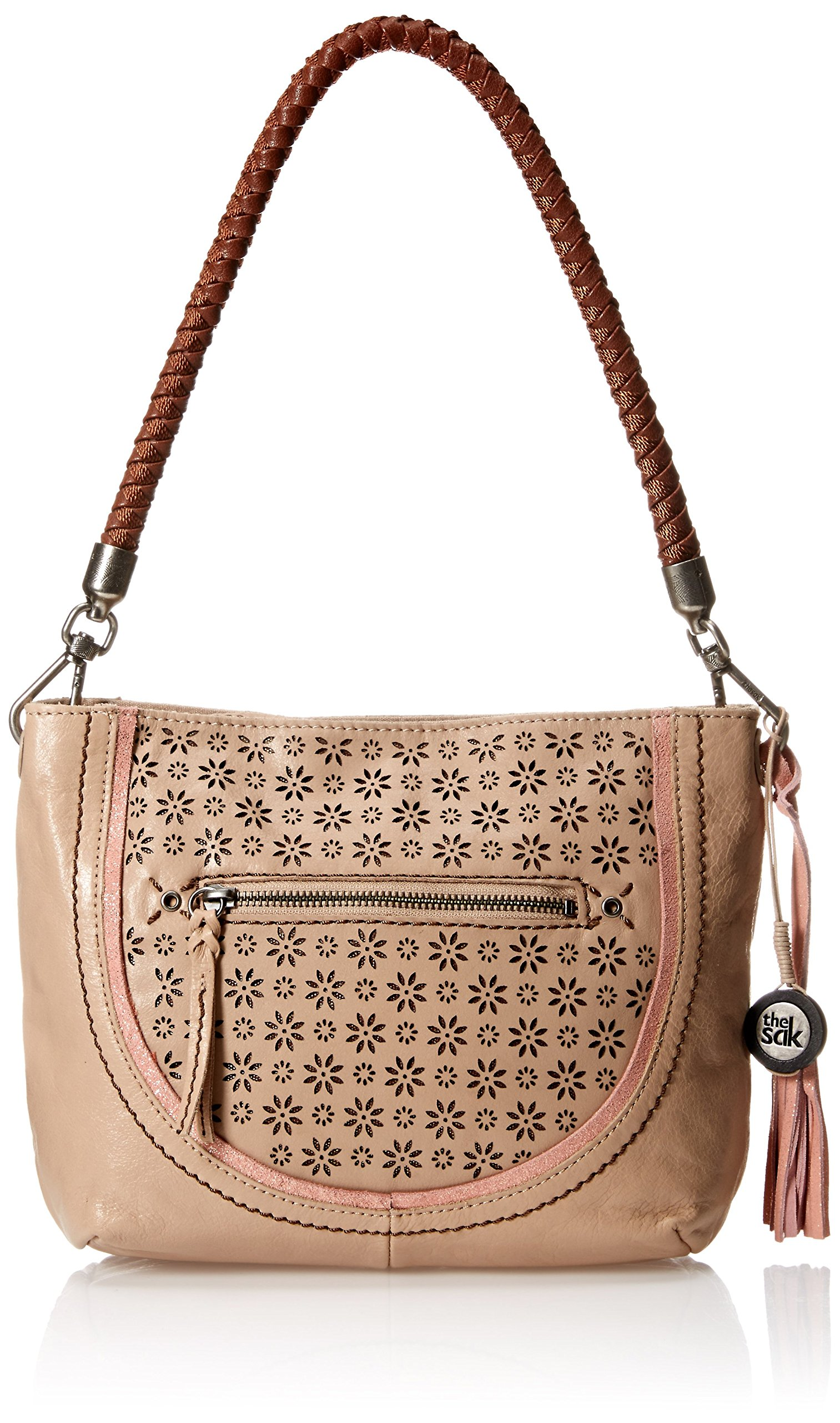 The Sak Indio Demi Hobo Bag, Taupe Floral Perforated, One Size