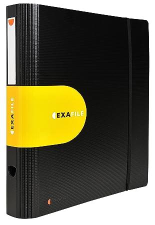 Exacompta Exactive - Archivador de palanca, lomo 80 mm, A4, color negro: Amazon.es: Oficina y papelería