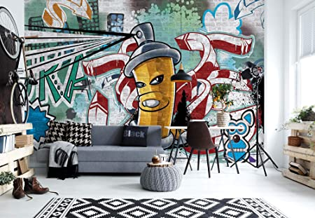 Graffiti Street Art Photo Wallpaper Wall Mural Giant Wall