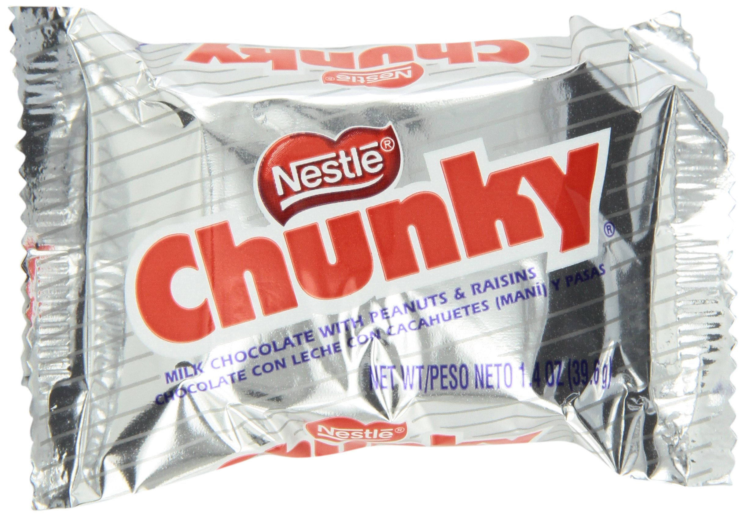 Nestle Chunky Chocolate Single Candy Bars, 1.4 Ounce (Pack of 24) by Chunky
