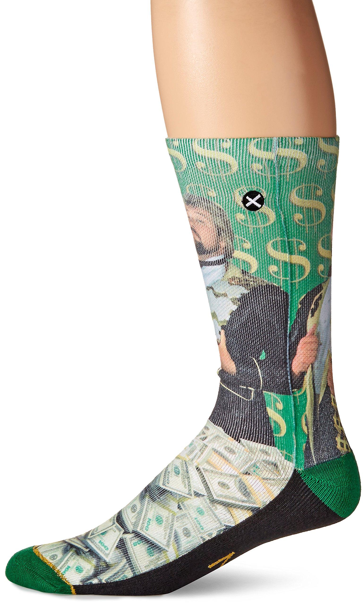 Odd Sox Men's Million Dollar Man, Multi, Sock Size:10-13/Shoe Size: 6-12