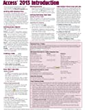 Microsoft Access 2013 Introduction Quick Reference Guide (Cheat Sheet of Instructions, Tips & Shortcuts - Laminated Card)