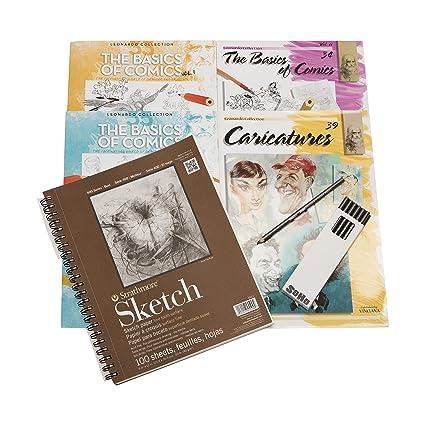 amazon com leonardo collection learn to draw comics set includes