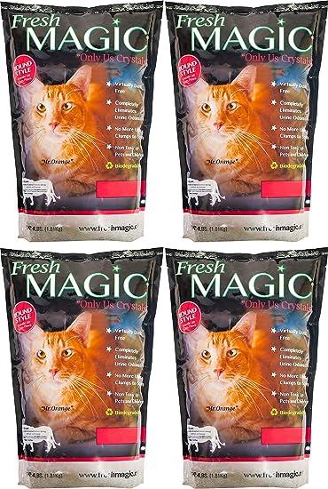 Amazon.com: Fresmagic - Arena de gato de cristal de bajo ...
