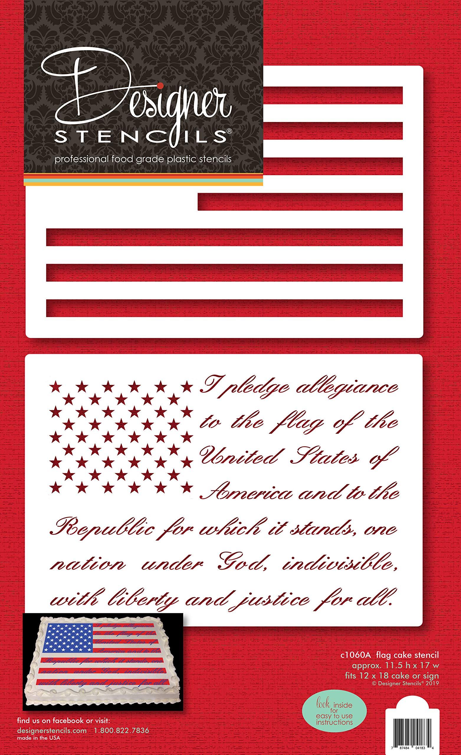 Pledge of Allegiance Flag Cake/Craft Stencil by Designer Stencils (Image #5)