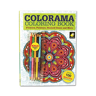 Colorama Coloring Book for Adults with 12 Colored Pencils, Create Something Wonderful & Relax: Toys & Games