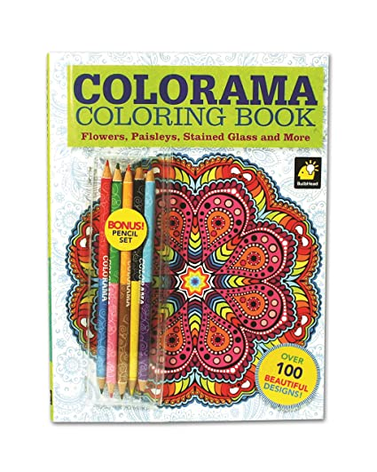Amazon Com Colorama Coloring Book For Adults With 12 Colored