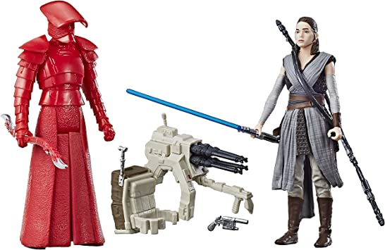 Hasbro Star Wars Rey (Jedi Training) & Elite Praetorian Guard 2 ...